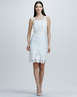 Rachel Roy Sleeveless Eyelet Lace Dress
