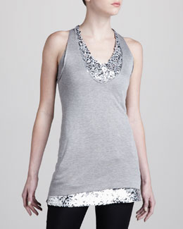 Donna Karan Sequin-Layer Tunic