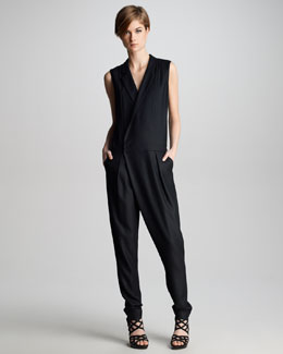 J Brand Ready to Wear Angelina Crepe Jumpsuit