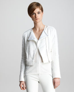 J Brand Ready to Wear Annette Tweed Biker Jacket
