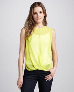 Patterson J. Kincaid Pascal Sheer Draped Tank