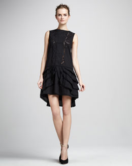 Skaist Taylor Blossom Tier-Hem Dress