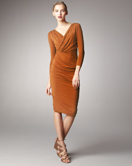 Donna Karan Three-Quarter-Sleeve Dress