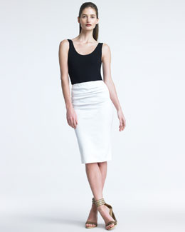 Donna Karan Jersey Pencil Skirt, Ivory