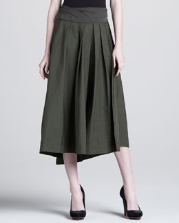 Donna Karan Jersey-Waist High-Low Skirt