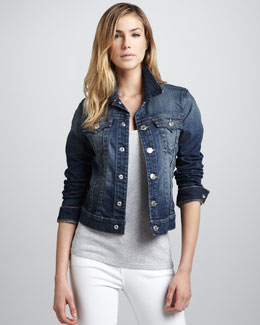 True Religion Emily Relaxed Denim Jacket