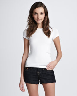 True Religion Allie Body Rinse Cuffed Shorts