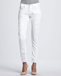 True Religion Brianna Slim Boyfriend Fit Jeans, White
