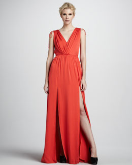 Sachin + Babi Thara Double-V Maxi Dress