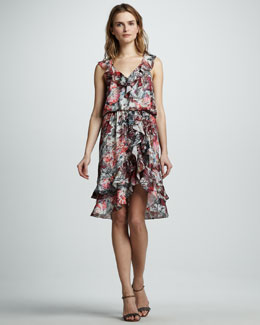 Sachin + Babi Narula Ruffle-Hem Dress