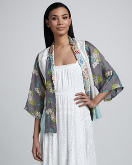 Johnny Was Collection Cropped Kimono Top, Women's