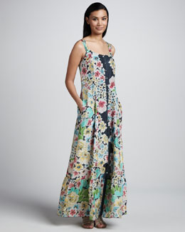 Johnny Was Collection Floral Button-Down Maxi Dress