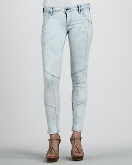 Sinclair Aalto Seamed Potassium-Wash Jeans