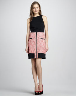 Phoebe Couture Sleeveless Colorblock Dress