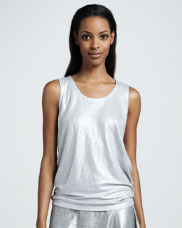 Eileen Fisher Shimmer Sleeveless Shell