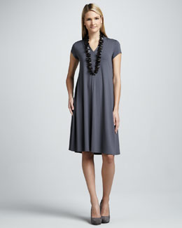 Eileen Fisher Knee-Length Jersey Dress