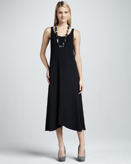 Eileen Fisher Long Sleeveless Jersey Dress