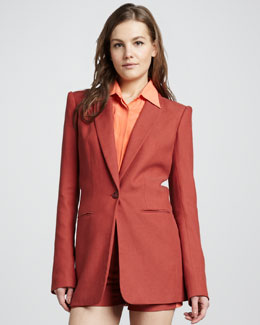 Rachel Zoe Chase Boyfriend Jacket, Burnt Orange