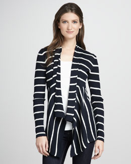Autumn Cashmere Striped Cotton Cardigan