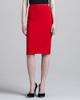 Donna Karan Pencil Skirt, Crimson Fire