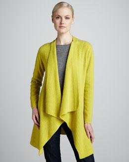 Neiman Marcus Cashmere Cardigan Coat