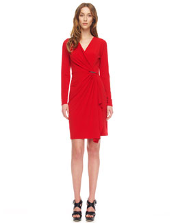MICHAEL Michael Kors Jersey Faux-Wrap Dress