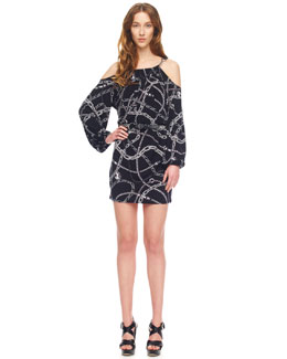 MICHAEL Michael Kors Chain-Print Jersey Dress