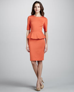 Trina Turk Trophie Peplum Dress, Bellini