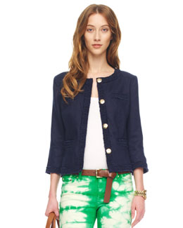 MICHAEL Michael Kors  Washed Linen Blazer, Women's