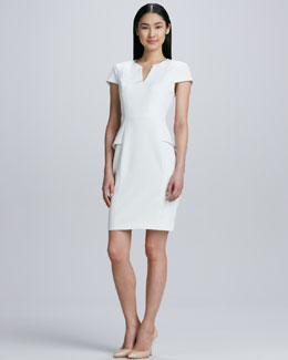 Elie Tahari Jasper Peplum Sheath Dress
