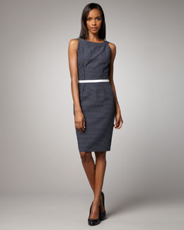 David Meister Cutout-Back Dotted Dress