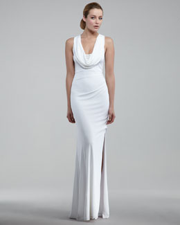 David Meister Cowl-Neck Gown