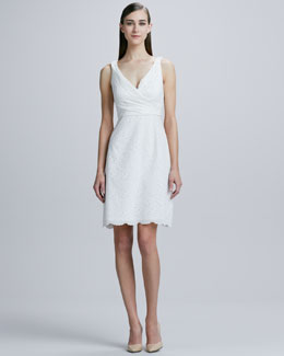 Elie Tahari Reilla Eyelet Lace Dress