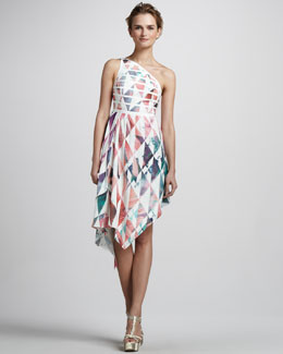 Kelli & Talulah This Is Dreaming Printed One-Shoulder Dress