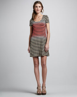 Bailey 44 Ibiza Striped A-Line Dress