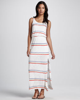 Splendid Hermosa Striped Slub Maxi Dress