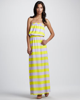 Splendid Striped Strapless Maxi Dress