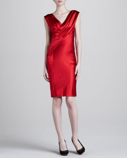 Donna Karan Twisted Drape Dress