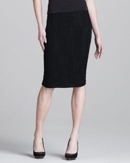 Donna Karan Ribbon Jersey Pencil Skirt