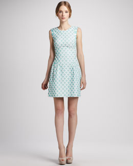 Phoebe Couture Diamond-Print Sleeveless Dress