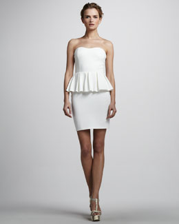 Talulah Spirit Strapless Peplum Dress