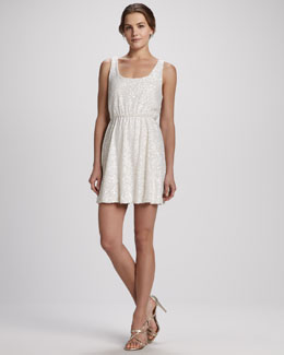 Alice + Olivia Gabby Blouson Sequin Tank Dress