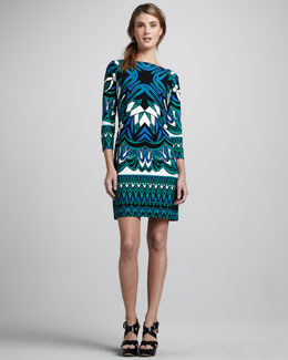 Ali Ro Jersey Print Dress, Aquamarine Multi