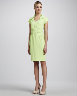 T Tahari Arlo Ruffle-Collar Dress