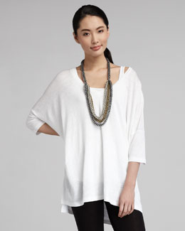 Eileen Fisher V-Neck Boxy Long Tunic, Women's