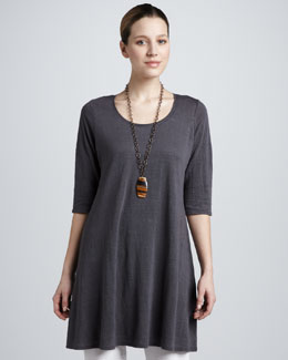 Eileen Fisher Linen Jersey Layering Tunic, Women's