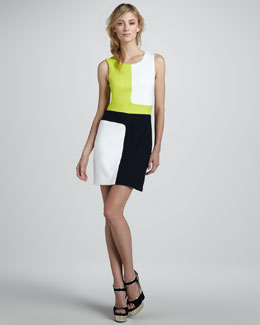 Bailey 44 Dragon Fish Colorblock Dress