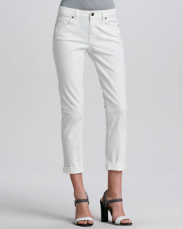 Rich and Skinny Relaxed Whitewash Ankle Cropped Jeans