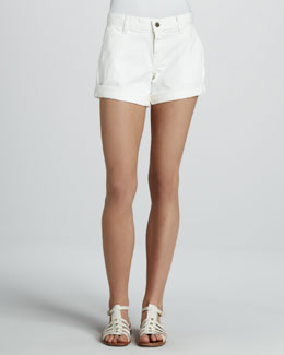 Rich and Skinny Hampton Cuffed Shorts, White