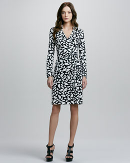 Diane von Furstenberg New Jeanne Two Lips-Print Wrap Dress